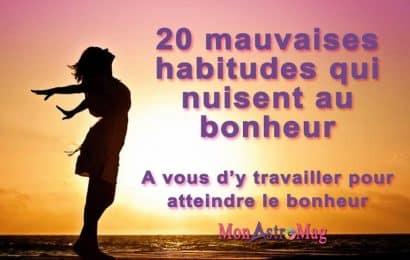 20 mauvaises habitudes qui nuisent au bonheur