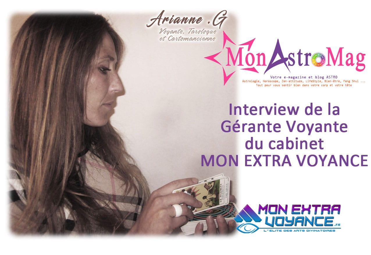 Interview d'Arianne .G – Gérante & Voyante du cabinet Mon Extra Voyance