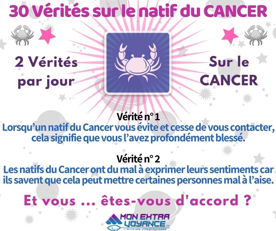 Signe du cancer VERITES DU JOUR 1 2