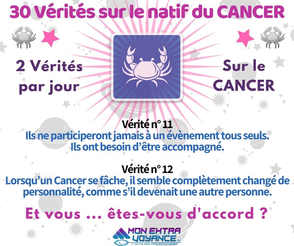 Signe du cancer VERITES DU JOUR 11 12