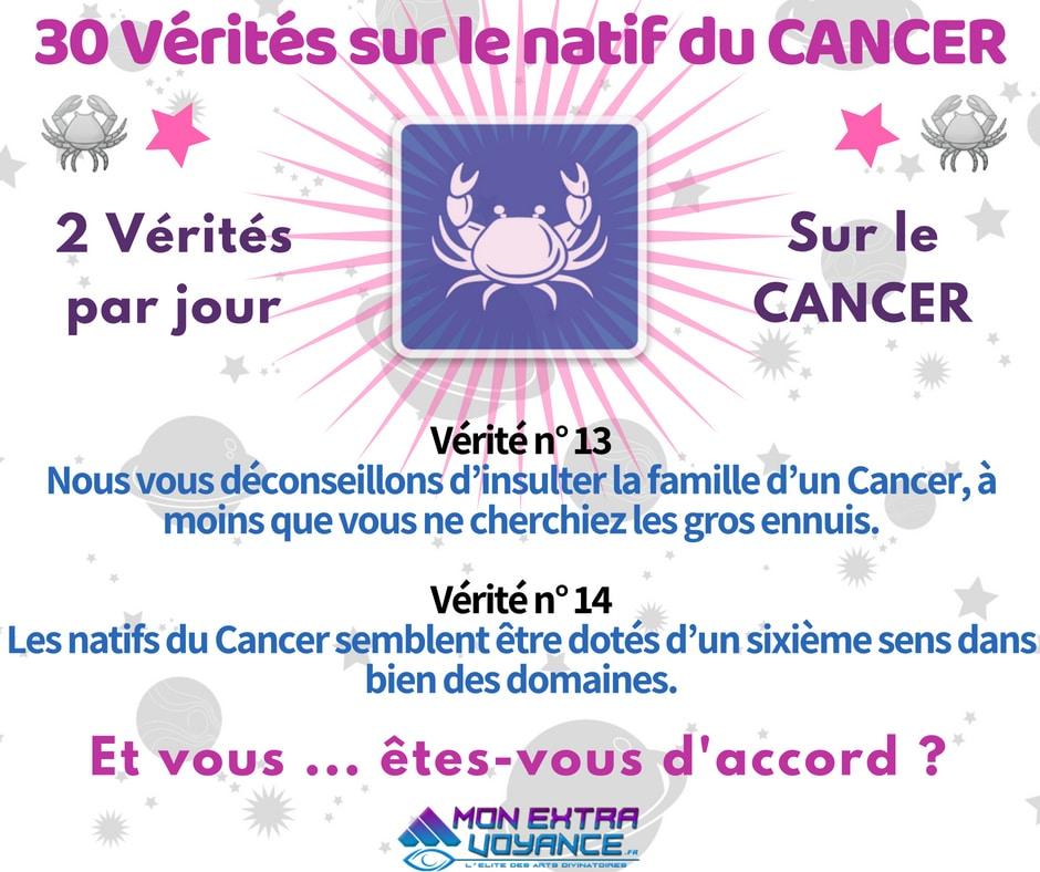 Signe du cancer VERITES DU JOUR 13 14