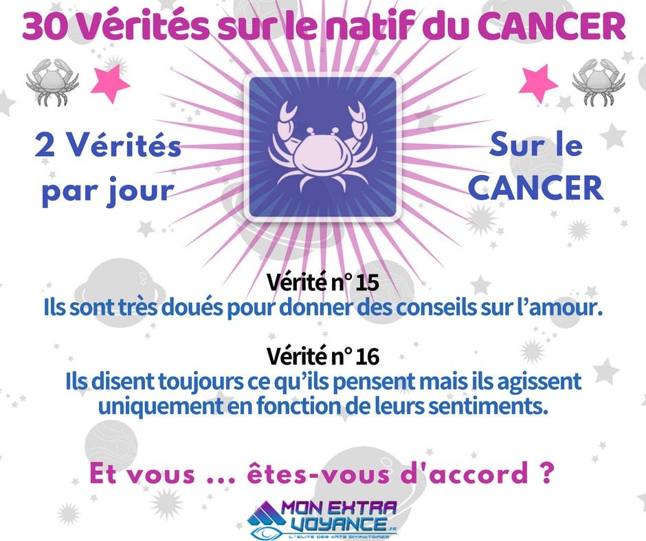 Signe du cancer VERITES DU JOUR 15 16