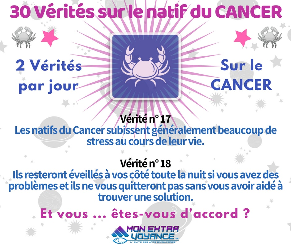 Signe du cancer VERITES DU JOUR 17 18