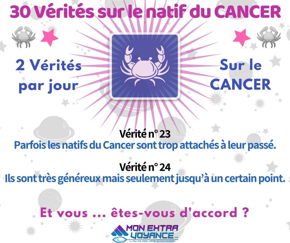 Signe du cancer VERITES DU JOUR 23 24
