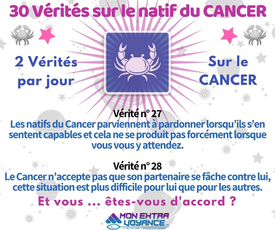 Signe du cancer VERITES DU JOUR 27 28