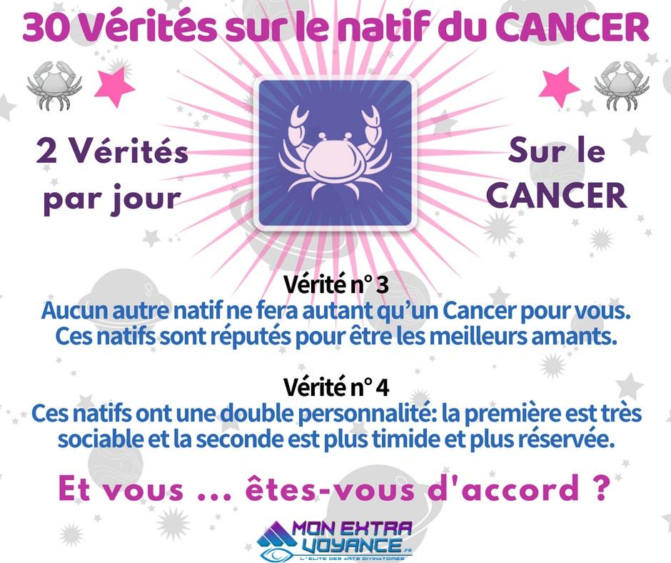Signe du cancer VERITES DU JOUR 3 4