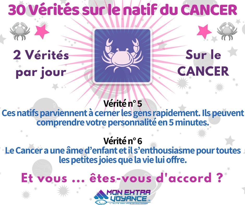 Signe du cancer VERITES DU JOUR 5 6