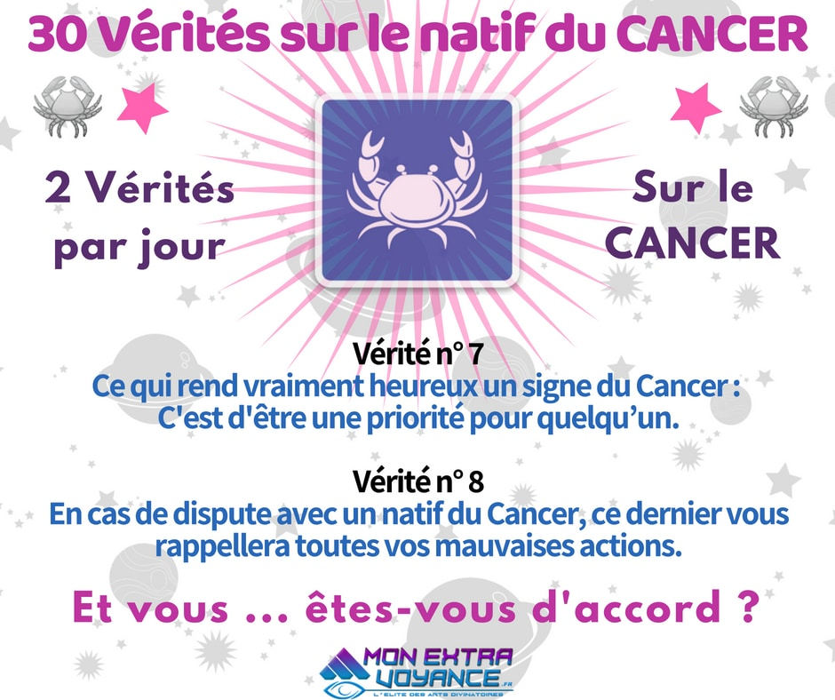 Signe du cancer VERITES DU JOUR 7 8