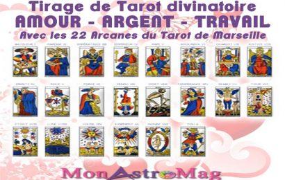 Tirage de Tarot Gratuit AMOUR ARGENT TRAVAIL