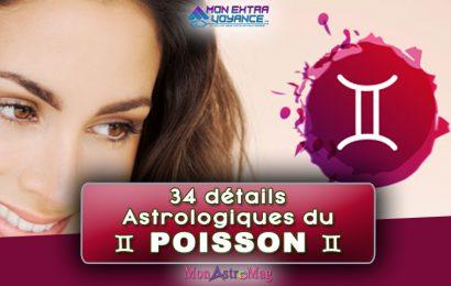 34 détails astrologiques du POISSON