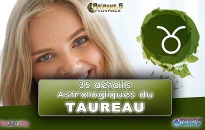 35 détails astrologiques du signe TAUREAU