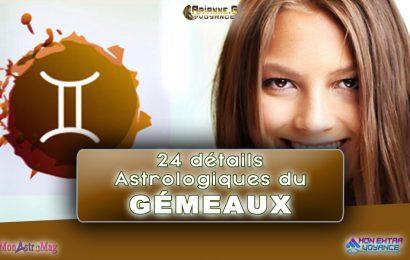 24 détails astrologiques du signe GÉMEAUX