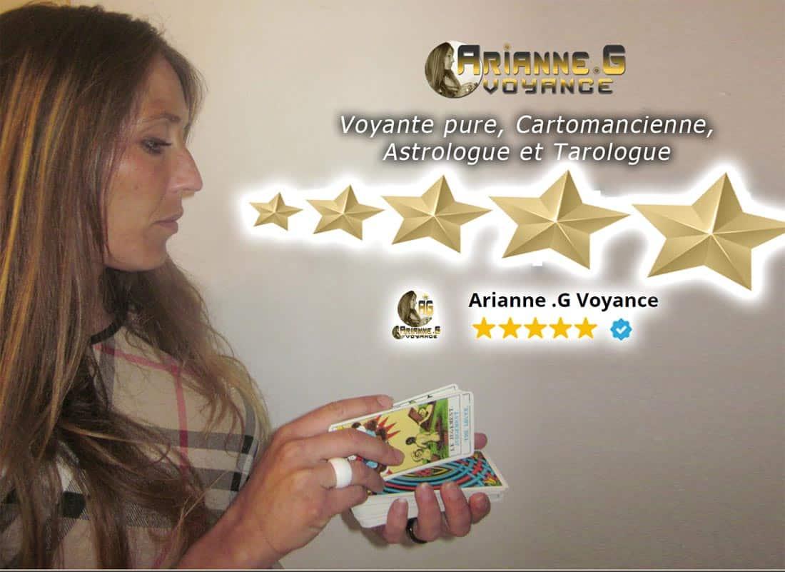 Le Cabinet ARIANNE G VOYANCE avec Arianne G en personne, Voyante 5 étoiles